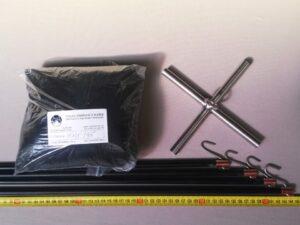 Čeřen komplet 1,5 x 1,5 m/ síť PAD 5×5 mm černá – rašl