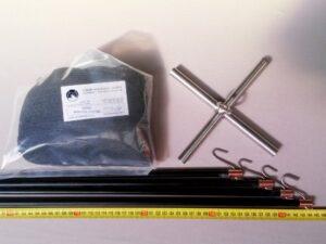 Čeřen komplet 1,5 x 1,5 m/ síť PAD 8×8 mm černá – rašl