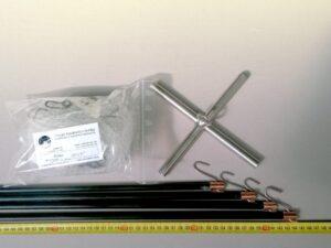 Čeřen komplet 1,5 x 1,5 m/ síť PAD monofil 8×8 mm transparent – uzel