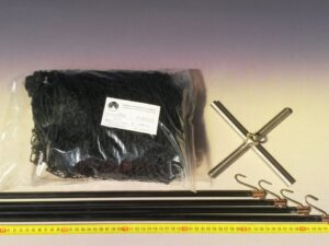 Čeřen komplet 1,5 x 1,5 m/ síť PAD 20×20 mm černá – rašl