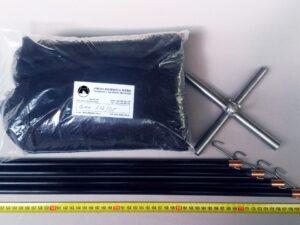 Čeřen komplet 2,0 x 2,0 m/ síť PAD 5×5 mm černá – rašl