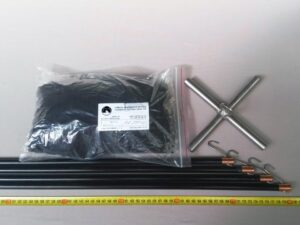 Čeřen komplet 2,0 x 2,0 m/ síť PAD 8×8 mm černá – rašl