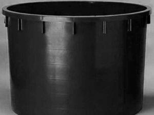 Káď  750l černá polyethylen (PE)