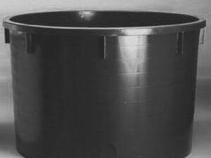 Káď  1500l černá polyethylen (PE)