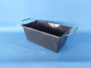 Plastová vana 90l srámem auchy, černá (PE)