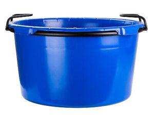 Plastová nádoba kulatá 90l srámem auchy, modrá (PE)