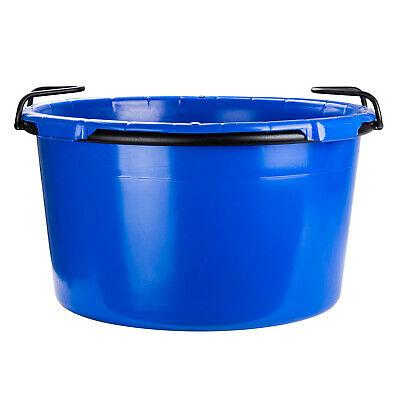 Plastová nádoba kulatá 90l srámem auchy, modrá (PE) - 1