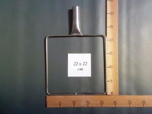 Sáček rám nerezový 22×22 cm
