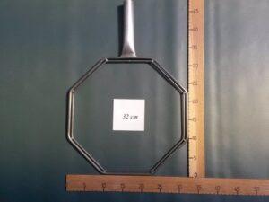 Osmibok rám nerezový 32×32 cm