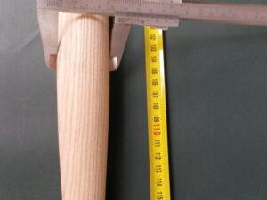 Násada dřevěná jasanová 120 cm/ 40 mm tvarovaná