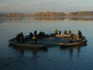 Rybářské sítě a profesní vybavení