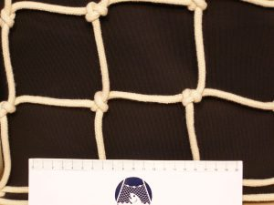 Dekorační síť ručně pletená, bavlna 80/5,0 mm