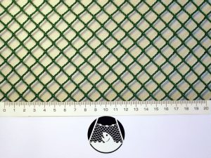 Síťovina nylon (PAD) rašlová strojní 10×10/1,8 mm zelená