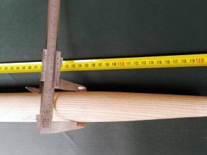 Násada 120 cm/ 40 mm tvarovaná