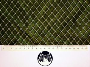 Síťovina ochranná uzlovaná polyethylen – multifil 12×12/0,7 mm PET transparentní
