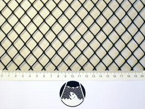 Síťovina nylon (PAD) rašlová strojní 15×15/1,4 mm černá
