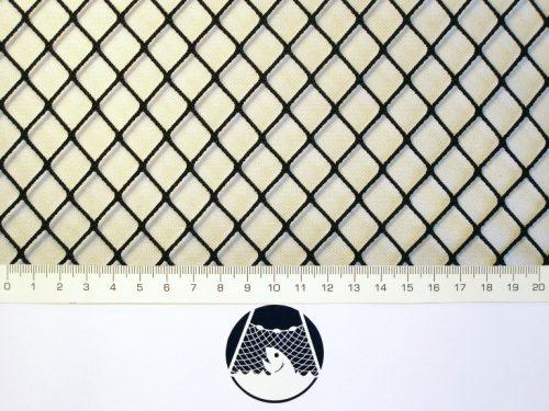 Síťovina polyamid nylon rašlovaná strojní 15×15/1,4 mm PAD černá - 1