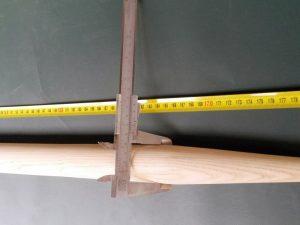 Násada 180 cm/ 40 mm tvarovaná