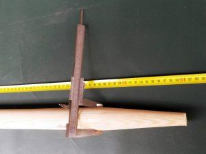 Násada 200 cm/ 40 mm tvarovaná