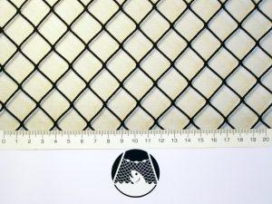 Síťovina nylon (PAD) rašlová strojní 20×20/1,4 mm černá