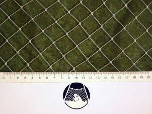 Síťovina ochranná uzlovaná polyethylen – multifil 22×22/0,9 mm PET transparentní