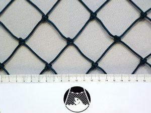 Síťovina ochranná uzlovaná polyethylen – multifil 45×45/2,5 mm PET zelená