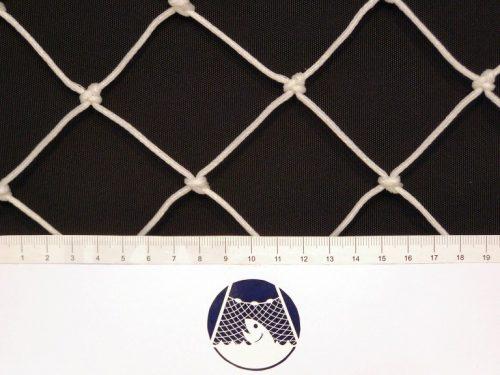 Fotbalová síť ochranná PET 50/2,5 mm bílá - 1