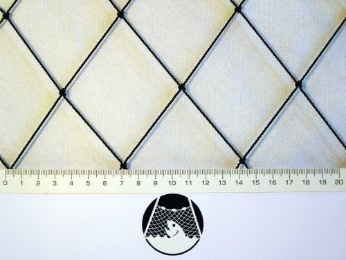 Voliérová síť na chov bažantů PET 55/1,4 mm černá - 1