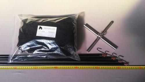 Čeřen komplet 1,5 x 1,5 m/ PAD 15×15 mm černá – rašl - 1