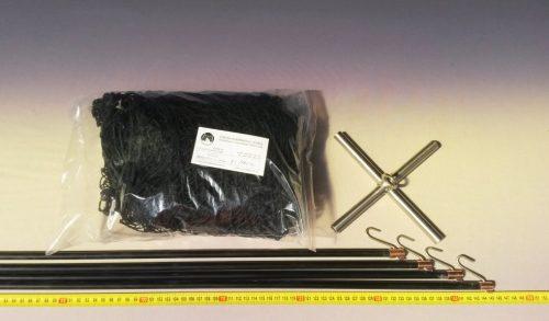 Čeřen komplet 1,5 x 1,5 m/ PAD 20×20 mm černá – rašl - 1