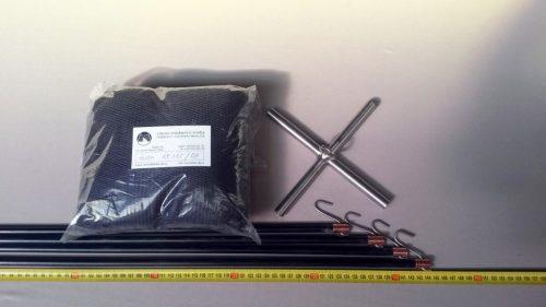 Čeřen komplet 1,5 x 1,5 m/ PAD 4×4 mm černá – rašl - 1