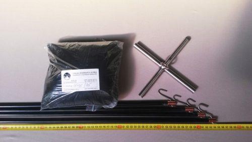 Čeřen komplet 1,5 x 1,5 m/ PAD 5×5 mm černá – rašl - 1