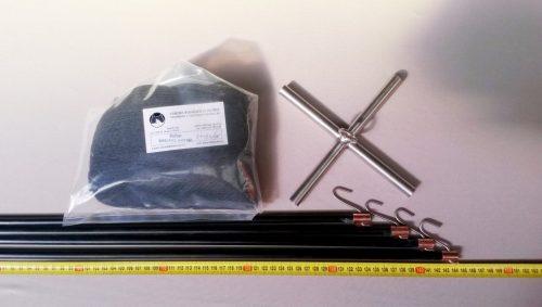 Čeřen komplet 1,5 x 1,5 m/ PAD 8×8 mm černá – rašl - 1