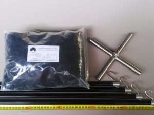 Čeřen komplet 2,5 x 2,5 m/ PAD 15×15 mm černá – rašl