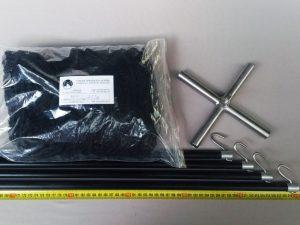 Čeřen komplet 2,5 x 2,5 m/ PAD 20×20 mm černá – rašl
