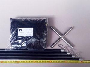 Čeřen komplet 2,5 x 2,5 m/ PAD 30×30 mm černá – rašl