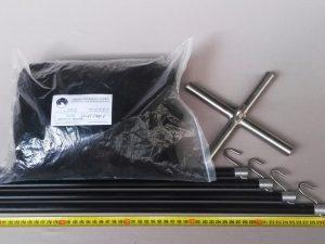 Čeřen komplet 2,5 x 2,5 m/ PAD 8×8 mm černá – rašl