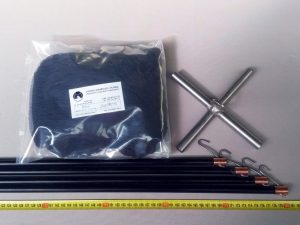 Čeřen komplet 2 x 2 m/ PAD 15×15 mm černá – rašl