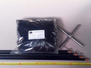 Čeřen komplet 2 x 2 m/ PAD 20×20 mm černá – rašl