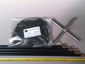 Čeřen komplet 2 x 2 m/ PAD 5×5 mm černá – rašl