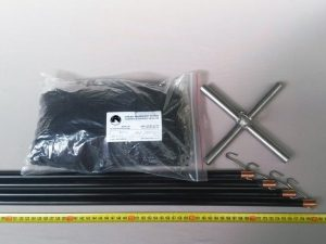 Čeřen komplet 2 x 2 m/ PAD 8×8 mm černá – rašl