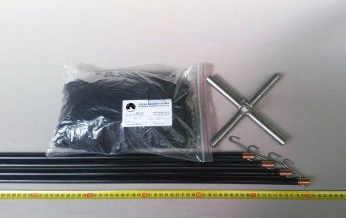 Čeřen komplet 2 x 2 m/ PAD 8×8 mm černá – rašl - 1