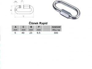 Článek RAPID 5 mm zinkovaná ocel - 2