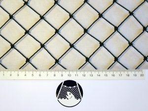 Tenisová síť na exponovaná místa PET 27/1,5 mm černá