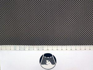 Síťovina polyester rašlovaná strojní 2×2/0,5 mm PES černá