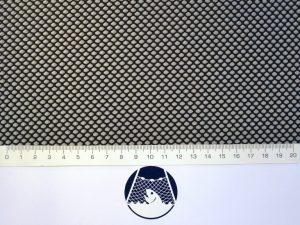 Síťovina polyester rašlovaná strojní 4×4/1,0 mm PES černá