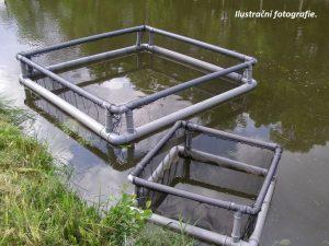 Kolíbka manipulační plovoucí sdvojitým rámem 0,75 x 0,75 x 0,8m PAD 5/0,6 mm