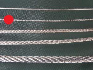 Ocelové lano Ø 3 mm zinkované