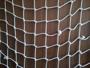 Dekorační síť ručně pletená, bavlna 100/7,0 mm