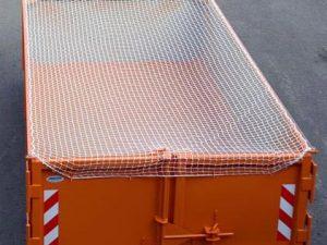 Síť na kontejner polyethylen (PET) 3,5 x 5 m/ 2,5 mm uzlová bílá